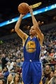 Nov 6, 2013; Minneapolis, MN, USA; Golden State Warriors point guard Stephen Curry (30) goes up for a shot in the first half against the Minnesota Timberwolves at Target Center. Mandatory Credit: Jesse Johnson-USA TODAY Sports