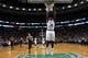 Nov 6, 2013; Boston, MA, USA; Boston Celtics power forward Brandon Bass (30) takes the ball to the basket against Utah Jazz small forward Gordon Hayward (20) in the second half at TD Garden. The Celtics defeated the Jazz 97-87. Mandatory Credit: David Butler II-USA TODAY Sports
