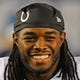 Oct 14, 2013; San Diego, CA, USA; Indianapolis Colts running back Trent Richardson (34) after a game against the San Diego Chargers at Qualcomm Stadium. Mandatory Credit: Christopher Hanewinckel-USA TODAY Sports