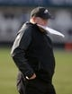 Nov 3, 2013; Oakland, CA, USA; Philadelphia Eagles coach Chip Kelly during the game against the Oakland Raiders at O.co Coliseum. The Eagles defeated the Raiders 49-20. Mandatory Credit: Kirby Lee-USA TODAY Sports