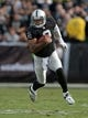Nov 3, 2013; Oakland, CA, USA; Oakland Raiders quarterback Terrelle Pryor (2) rushes for a 35-yard gain in the second quarter against the Philadelphia Eagles at O.co Coliseum. Mandatory Credit: Kirby Lee-USA TODAY Sports