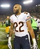Nov 4, 2013; Green Bay, WI, USA; Chicago Bears running back Matt Forte (22) following the game against the Green Bay Packers at Lambeau Field. Chicago won 27-20.  Mandatory Credit: Jeff Hanisch-USA TODAY Sports