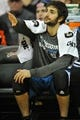 Nov 4, 2013; Cleveland, OH, USA; Minnesota Timberwolves point guard Ricky Rubio (9) during a game against the Cleveland Cavaliers at Quicken Loans Arena. Cleveland won 93-92. Mandatory Credit: David Richard-USA TODAY Sports