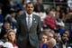 Nov 8, 2013; Auburn Hills, MI, USA; Detroit Pistons head coach Maurice Cheeks during the third quarter against the Oklahoma City Thunder at The Palace of Auburn Hills. Mandatory Credit: Tim Fuller-USA TODAY Sports