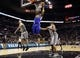 Nov 8, 2013; San Antonio, TX, USA; Golden State Warriors center Jermaine O'Neal (7) goes up for the dunk against the San Antonio Spurs during the second half at AT&T Center. The Spurs won 76-74. Mandatory Credit: Soobum Im-USA TODAY Sports