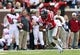 Nov 9, 2013; Oxford, MS, USA; Mississippi Rebels wide receiver Donte Moncrief (12) advances the ball during the game against the Arkansas Razorbacks at Vaught-Hemingway Stadium. Mississippi Rebels defeat the Arkansas Razorbacks with a score of 34-24.  Mandatory Credit: Spruce Derden-USA TODAY Sports