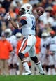 Nov 9, 2013; Knoxville, TN, USA; Auburn Tigers quarterback Nick Marshall (14) passes the ball against the Tennessee Volunteers during the first half at Neyland Stadium. Mandatory Credit: Randy Sartin-USA TODAY Sports