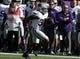 Nov 9, 2013; Lubbock, TX, USA; Kansas State Wildcats running back John Hubert (33) scores against the Texas Tech Red Raiders in the first half at Jones AT&T Stadium. Mandatory Credit: Michael C. Johnson-USA TODAY Sports