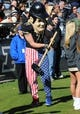 Nov 9, 2013; West Lafayette, IN, USA;  Purdue Boilermaker mascot Purdue Pete performs during the game against the Iowa Hawkeyes at Ross Ade Stadium. Mandatory Credit: Sandra Dukes-USA TODAY Sports
