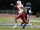 Nov 9, 2013; Durham, NC, USA; North Carolina State Wolfpack linebacker Robert Caldwell (48) reacts after intercepting a Duke Blue Devils pass at Wallace Wade Stadium. Mandatory Credit: Mark Dolejs-USA TODAY Sports