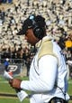 Nov 9, 2013; West Lafayette, IN, USA; Purdue Boilermakers head coach Darrell Hazell in the second half  at Ross Ade Stadium. Mandatory Credit: Sandra Dukes-USA TODAY Sports