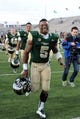 Nov 9, 2013; Fort Collins, CO, USA; Colorado State Rams running back Kapri Bibbs (5) reacts following the win over the Nevada Wolf Pack at Hughes Stadium. The Rams defeated the Wolf Pack 38-17. Mandatory Credit: Ron Chenoy-USA TODAY Sports