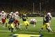 Nov 9, 2013; Ann Arbor, MI, USA; Nebraska Cornhuskers running back Ameer Abdullah (8) dive into the end zone for a touchdown in the fourth quarter against the Michigan Wolverines at Michigan Stadium. Nebraska won 17-13. Mandatory Credit: Rick Osentoski-USA TODAY Sports
