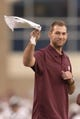 Nov 9, 2013; College Station, TX, USA; St. Louis Cardinals pitches Michael Wacha waves to fans during the second half of the game between the Texas A&M Aggies and the Mississippi State Bulldogs at Kyle Field. Texas A&M won 51-41. Mandatory Credit: Thomas Campbell-USA TODAY Sports