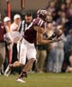Nov 9, 2013; College Station, TX, USA; Texas A&M Aggies wide receiver Mike Evans (13) catches a pass and runs for a 75-yard gain against the Mississippi State Bulldogs during the second half at Kyle Field. Texas A&M won 51-41. Mandatory Credit: Thomas Campbell-USA TODAY Sports