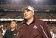 Nov 9, 2013; College Station, TX, USA; Mississippi State Bulldogs head coach Dan Mullen walks off the field against the Texas A&M Aggies after the second half at Kyle Field. Texas A&M won 51-4. Mandatory Credit: Thomas Campbell-USA TODAY Sports