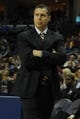 Nov 9, 2013; Memphis, TN, USA; Memphis Grizzlies head coach David Joerger looks on as his players play against Golden State Warriors during the first quarter at FedExForum. Mandatory Credit: Justin Ford-USA TODAY Sports
