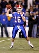 Nov 9, 2013; Ruston, LA, USA; Louisiana Tech Bulldogs quarterback Scotty Young (16) looks to throw against the Southern Miss Golden Eagles during the second quarter at Joe Aillet Stadium. Mandatory Credit: Chuck Cook-USA TODAY Sports
