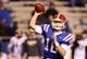 Nov 9, 2013; Ruston, LA, USA; Louisiana Tech Bulldogs quarterback Scotty Young (16) makes a throw against the Southern Miss Golden Eagles during the second half at Joe Aillet Stadium. Mandatory Credit: Chuck Cook-USA TODAY Sports