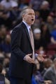 November 9, 2013; Sacramento, CA, USA; Sacramento Kings head coach Michael Malone instructs against the Portland Trail Blazers during the second quarter at Sleep Train Arena. Mandatory Credit: Kyle Terada-USA TODAY Sports