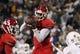 Nov 9, 2013; Laramie, WY, USA; Fresno State Bulldogs wide receiver Davante Adams (15) makes a catch against the  Wyoming Cowboys during the third quarter at War Memorial Stadium. Mandatory Credit: Troy Babbitt-USA TODAY Sports