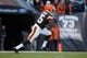 Nov 3, 2013; Cleveland, OH, USA; Cleveland Browns running back Fozzy Whittaker (35) runs the ball against the Baltimore Ravens at FirstEnergy Stadium. Mandatory Credit: Rick Osentoski-USA TODAY Sports