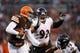 Nov 3, 2013; Cleveland, OH, USA; Cleveland Browns quarterback Jason Campbell (17) runs the ball against the Baltimore Ravens at FirstEnergy Stadium. Mandatory Credit: Rick Osentoski-USA TODAY Sports