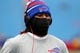 Nov 3, 2013; Orchard Park, NY, USA; Buffalo Bills cornerback Ron Brooks (33) before a game against the Kansas City Chiefs at Ralph Wilson Stadium. Mandatory Credit: Timothy T. Ludwig-USA TODAY Sports