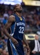 Nov 2, 2013; Dallas, TX, USA; Memphis Grizzlies power forward Ed Davis (32) looks for the ball during the game against the Dallas Mavericks at the American Airlines Center. The Mavericks defeated the Grizzlies 111-99. Mandatory Credit: Jerome Miron-USA TODAY Sports