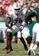 Oct 26, 2013; Tampa, FL, USA; Louisville Cardinals offensive tackle Jamon Brown (79) blocks against the South Florida Bulls during the second half at Raymond James Stadium. Mandatory Credit: Kim Klement-USA TODAY Sports