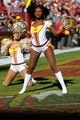 Nov 3, 2013; Landover, MD, USA; Washington Redskins cheerleaders dance on the field against the San Diego Chargers at FedEx Field. The Redskins won 30--24 in overtime. Mandatory Credit: Geoff Burke-USA TODAY Sports
