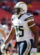 Nov 3, 2013; Landover, MD, USA; San Diego Chargers tight end Antonio Gates (85) stands on the field prior to the Chargers' game against the Washington Redskins at FedEx Field. Mandatory Credit: Geoff Burke-USA TODAY Sports