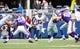 Nov 3, 2013; Arlington, TX, USA; Dallas Cowboys wide receiver Dwayne Harris (17) returns a kick off against the Minnesota Vikings  at AT&T Stadium. Dallas beat Minnesota 27-23. Mandatory Credit: Tim Heitman-USA TODAY Sports