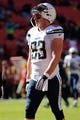 Nov 3, 2013; Landover, MD, USA; San Diego Chargers tight end John Phillips (83) stands on the field prior to the Chargers' game against the Washington Redskins at FedEx Field. Mandatory Credit: Geoff Burke-USA TODAY Sports