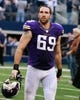 Nov 3, 2013; Arlington, TX, USA;  Minnesota Vikings defensive end Jared Allen (69) leaves the field after the game against the Dallas Cowboys at AT&T Stadium. Dallas beat Minnesota 27-23. Mandatory Credit: Tim Heitman-USA TODAY Sports