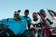 Nov 10, 2013; San Francisco, CA, USA; Carolina Panthers fans celebrate after the game against the San Francisco 49ers at Candlestick Park. The Carolina Panthers defeated the San Francisco 49ers 10-9. Mandatory Credit: Kelley L Cox-USA TODAY Sports