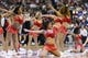 Nov 11, 2013; Philadelphia, PA, USA; Philadelphia 76ers dream team dancers perform during the second quarter against the San Antonio Spurs at Wells Fargo Center. The Spurs defeated the Sixers 109-85. Mandatory Credit: Howard Smith-USA TODAY Sports