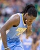 Nov 11, 2013; Salt Lake City, UT, USA; Denver Nuggets power forward Kenneth Faried (35) leaves the court after being injured during the second half against the Utah Jazz at EnergySolutions Arena. Denver won 100-81. Mandatory Credit: Russ Isabella-USA TODAY Sports