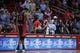 Nov 11, 2013; Houston, TX, USA; Toronto Raptors small forward Rudy Gay (22) walks to the bench after fouling out during the second overtime period at Toyota Center. Mandatory Credit: Andrew Richardson-USA TODAY Sports