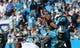 Nov 3, 2013; Charlotte, NC, USA; Carolina Panthers quarterback Cam Newton (1) calls time out during the game against the Atlanta Falcons at Bank of America Stadium. Carolina wins 34-10. Mandatory Credit: Sam Sharpe-USA TODAY Sports