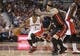 Nov 5, 2013; Toronto, Ontario, CAN; Toronto Raptors point guard Kyle Lowry (7) drives to the basket against Miami Heat forward Chris Andersen (11) at Air Canada Centre. The Heat beat the Raptors 104-95. Mandatory Credit: Tom Szczerbowski-USA TODAY Sports