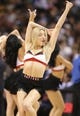 Nov 5, 2013; Toronto, Ontario, CAN; A member of the Toronto Raptors dance pack performs during a break in the action against the Miami Heat at Air Canada Centre. The Heat beat the Raptors 104-95. Mandatory Credit: Tom Szczerbowski-USA TODAY Sports