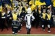 Nov 9, 2013; Ann Arbor, MI, USA; Michigan Wolverines marching band takes the field before the game against the Nebraska Cornhuskers at Michigan Stadium. Mandatory Credit: Rick Osentoski-USA TODAY Sports