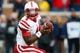 Nov 9, 2013; Ann Arbor, MI, USA; Nebraska Cornhuskers quarterback Tommy Armstrong Jr. (4) during the game against the Michigan Wolverines at Michigan Stadium. Mandatory Credit: Rick Osentoski-USA TODAY Sports