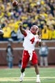 Nov 9, 2013; Ann Arbor, MI, USA; Nebraska Cornhuskers quarterback Tommy Armstrong Jr. (4) passes the ball against the Michigan Wolverines at Michigan Stadium. Mandatory Credit: Rick Osentoski-USA TODAY Sports