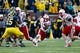 Nov 9, 2013; Ann Arbor, MI, USA; Nebraska Cornhuskers running back Ameer Abdullah (8) runs the ball in the first quarter against the Michigan Wolverines at Michigan Stadium. Mandatory Credit: Rick Osentoski-USA TODAY Sports