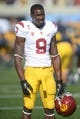 Nov 9, 2013; Berkeley, CA, USA; Southern California Trojans receiver Marqise Lee (9) before the game against the California Golden Bears at Memorial Stadium. Mandatory Credit: Kirby Lee-USA TODAY Sports