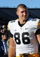 Nov 9, 2013; West Lafayette, IN, USA;  Iowa Hawkeyes tight end C.J. Fiedorowicz (86) after the game at Ross Ade Stadium. Mandatory Credit: Sandra Dukes-USA TODAY Sports
