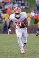 Nov 2, 2013; Charlottesville, VA, USA; Clemson Tigers running back Roderick McDowell (25) carries the ball against the Virginia Cavaliers at Scott Stadium. Mandatory Credit: Geoff Burke-USA TODAY Sports