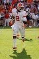 Nov 2, 2013; Charlottesville, VA, USA; Clemson Tigers wide receiver Sammy Watkins (2) runs with the ball against the Virginia Cavaliers at Scott Stadium. Mandatory Credit: Geoff Burke-USA TODAY Sports